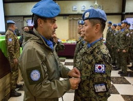 Dongmyeong Unit's 21st Camp Soldiers Wearing UN Medals  대표 이미지