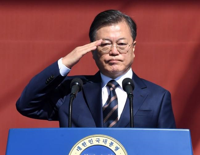 "President Moon vows to ""respond resolutely to thre"